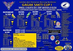Brosur Gagak Sakti Cup 13 Agustus 2017