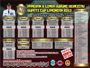 Brosur Bupati Cup Lamongan 2019