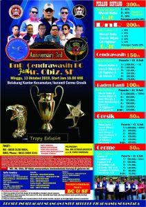Brosur Anniversary 3rd BnR Cendrawasih BC feat Mr. Obiz SF